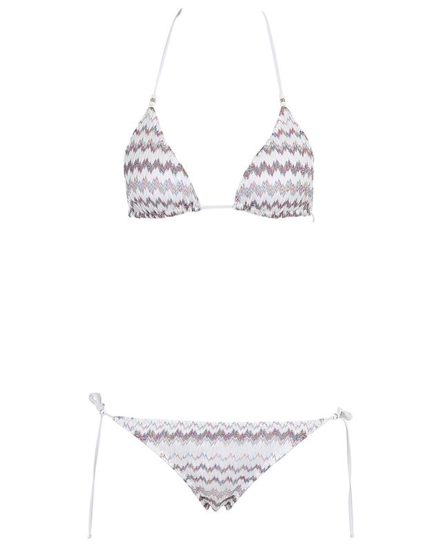 Bikini triangle en maille scintillante MISSONI MARE
