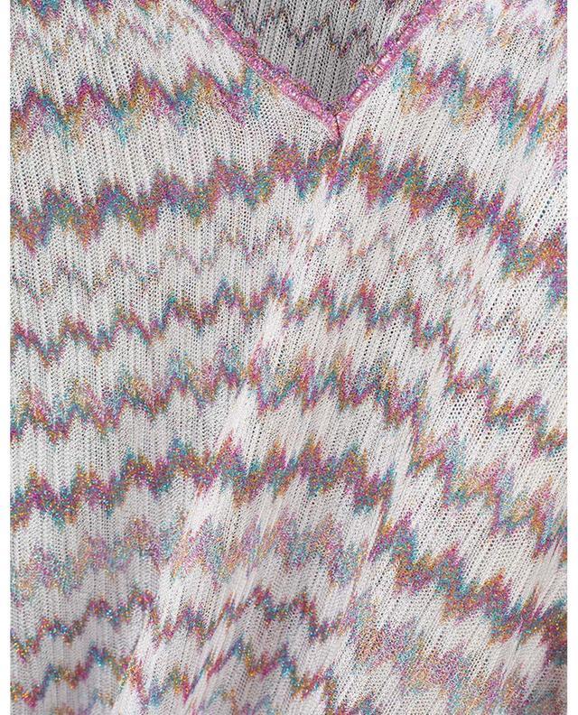 Long caftan en maille ajourée motifs zigzag MISSONI MARE