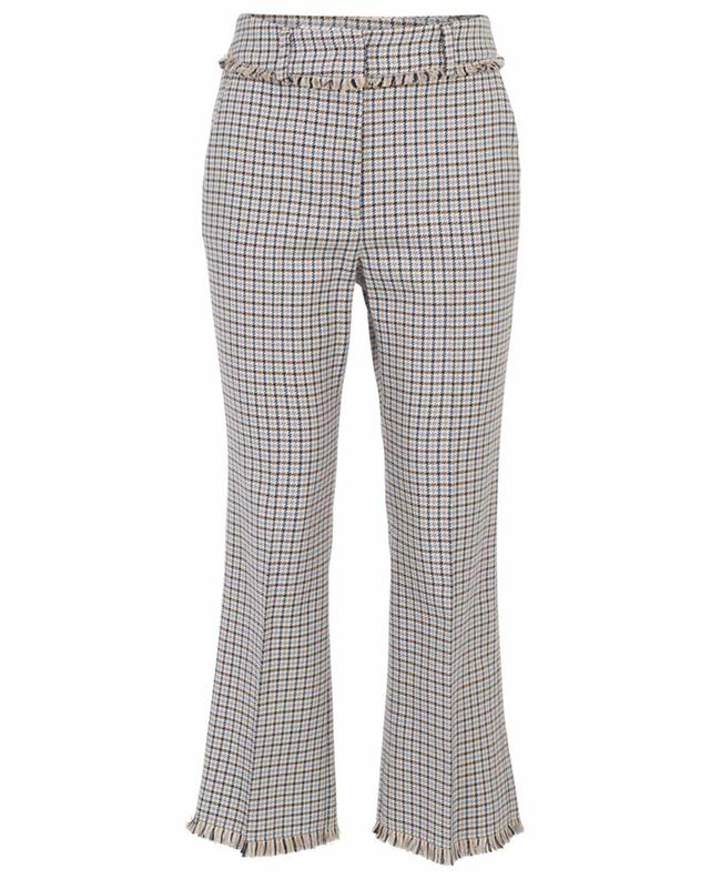 Pantalon droit à carreaux et bords francs Baiardo WEEKEND MAXMARA