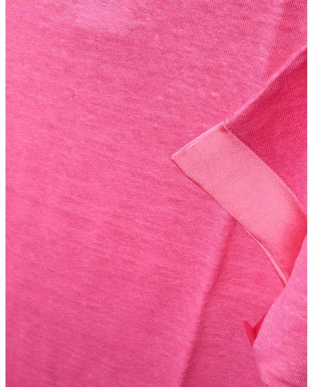 T-shirt en lin avec détails en soie GRAN SASSO