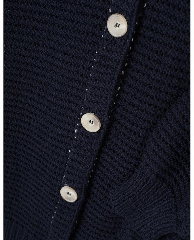 Cardigan tricot col rond en coton GRAN SASSO