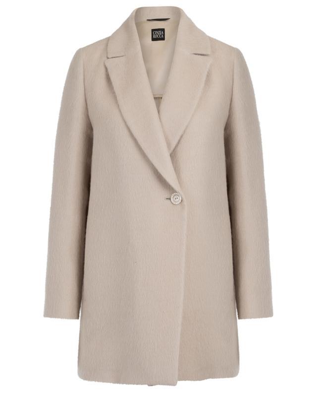Manteau oversize léger en alpaga et soie CINZIA ROCCA