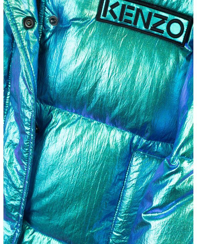 Capsule Holiday iridescent hooded down jacket KENZO