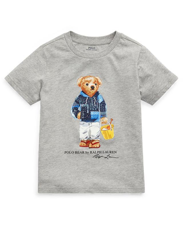 T-shirt en jersey chiné imprimé Beach Bear POLO RALPH LAUREN