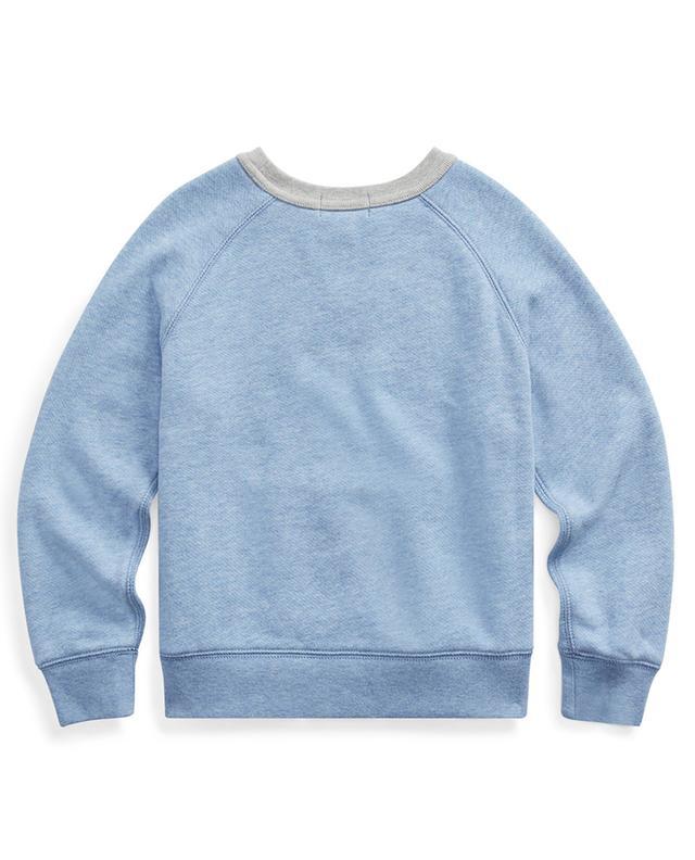 Sweat-shirt en coton mélangé à col rond et poche POLO RALPH LAUREN