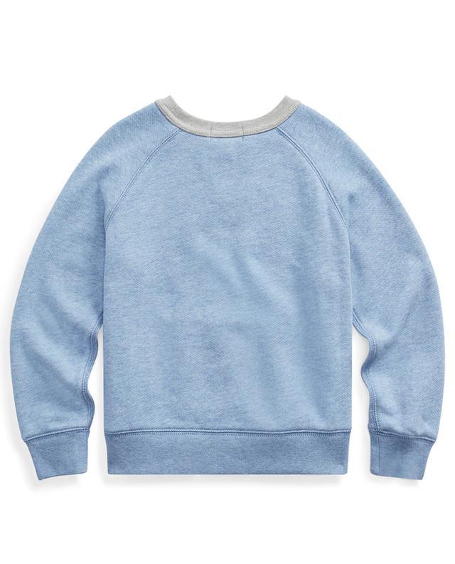 Sweat-shirt à col rond en coton mélangé avec poche POLO RALPH LAUREN