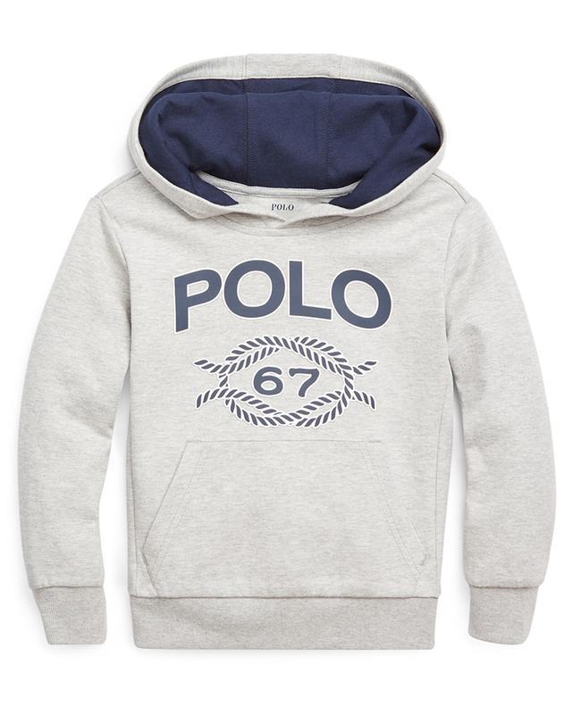 Sweat-shirt à capuche chiné imprimé Polo 67 POLO RALPH LAUREN