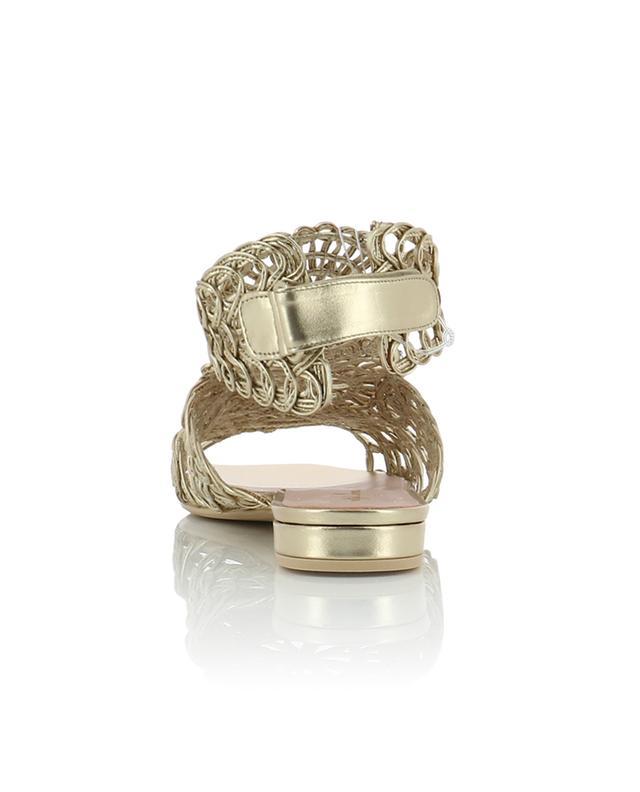 Sandales fleuries en cuir métallisé Olivia PRETTY BALLERINAS