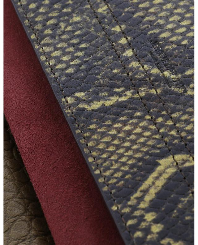 Sac porté épaule en cuir effet python texturé et daim Charly XS JEROME DREYFUSS
