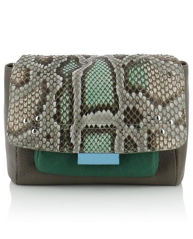 Petit sac porté épaule en cuir et python Lulu S JEROME DREYFUSS