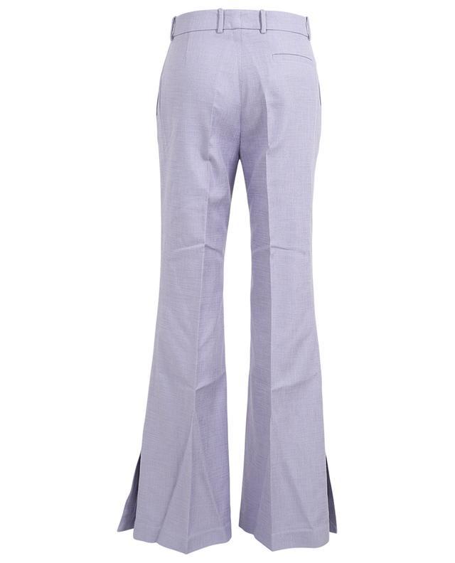 Pantalon évasé en coton mélangé Tena Shantung Linen JOSEPH
