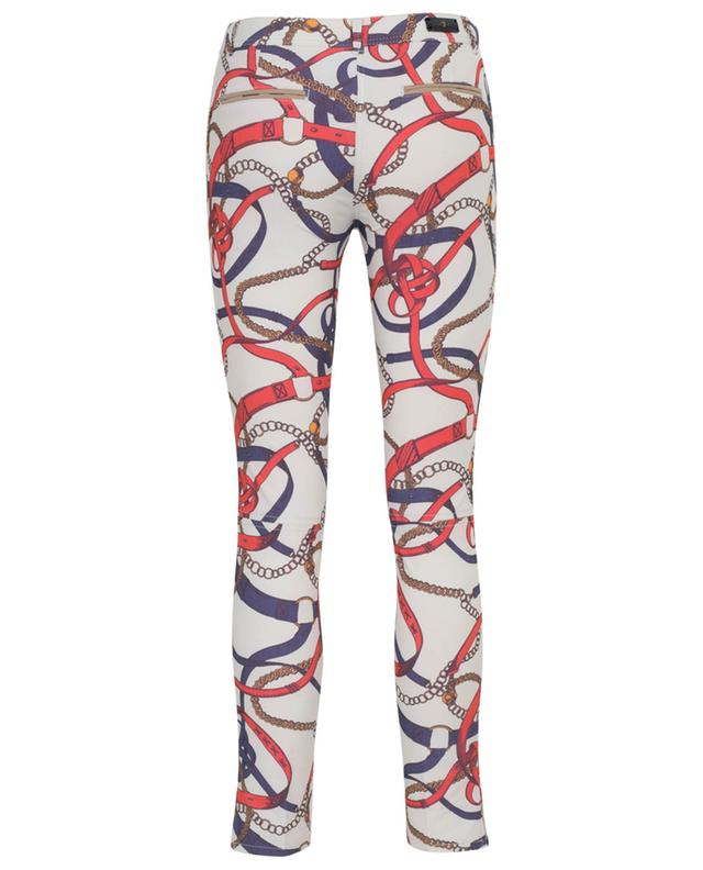 Pantalon slim imprimé chaînes Royal PAMELA HENSON