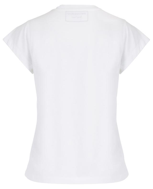 T-shirt en coton orné de clous ERMANNO SCERVINO
