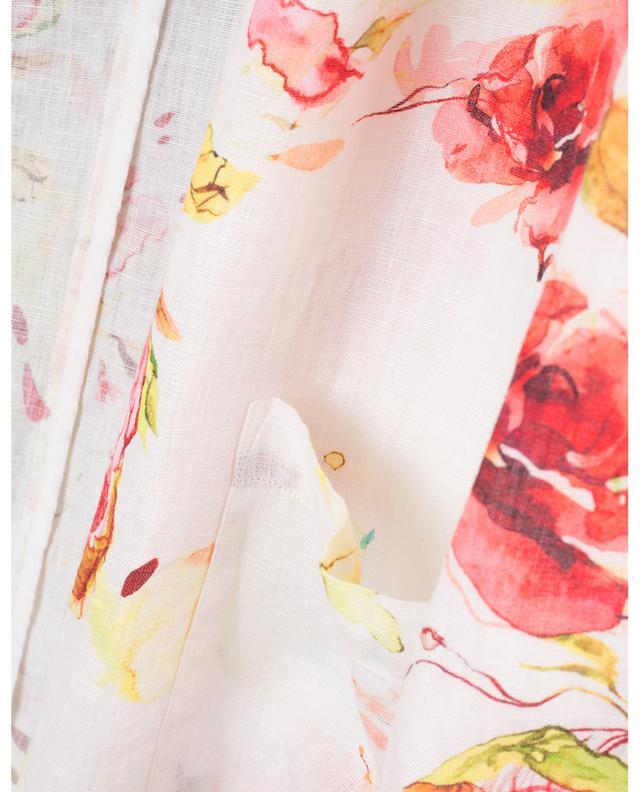 Blazer en lin imprimé fleuri 120% LINO