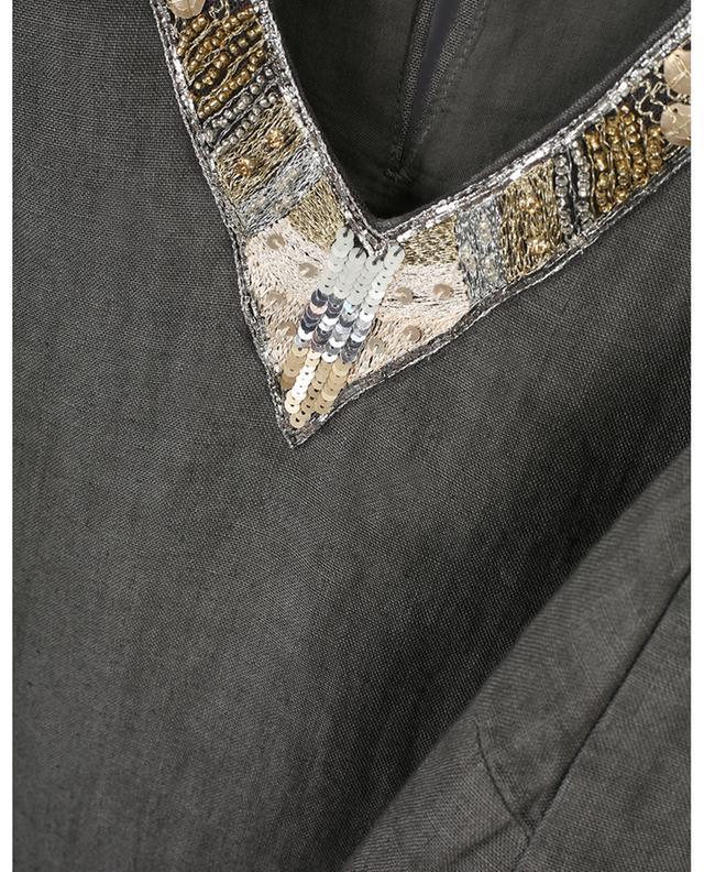 Robe sans manches en lin ornée de sequins 120% LINO