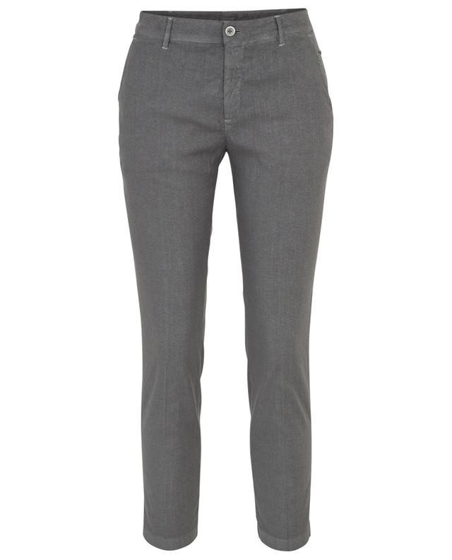 Pantalon fuselé en lin et coton mélangés 120% LINO