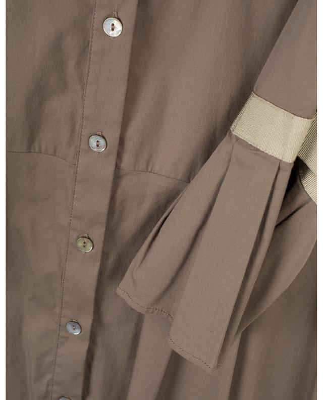 Robe chemise midi à manches 3/4 évasées LA CAMICIA