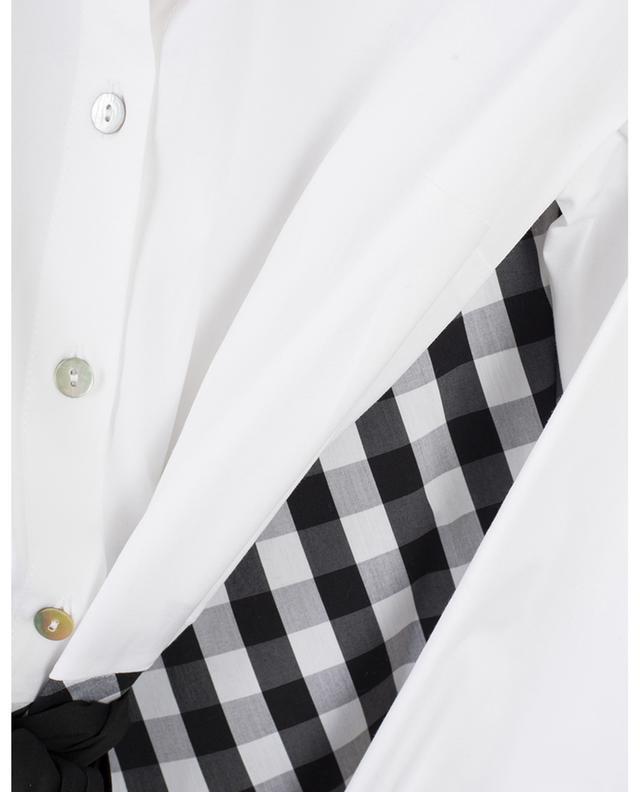 Robe chemise longue à jupe carreaux vichy LA CAMICIA