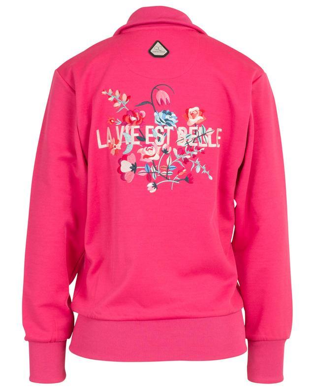 Sweat-shirt zippé avec broderies La Vie Est Belle QUANTUM COURAGE