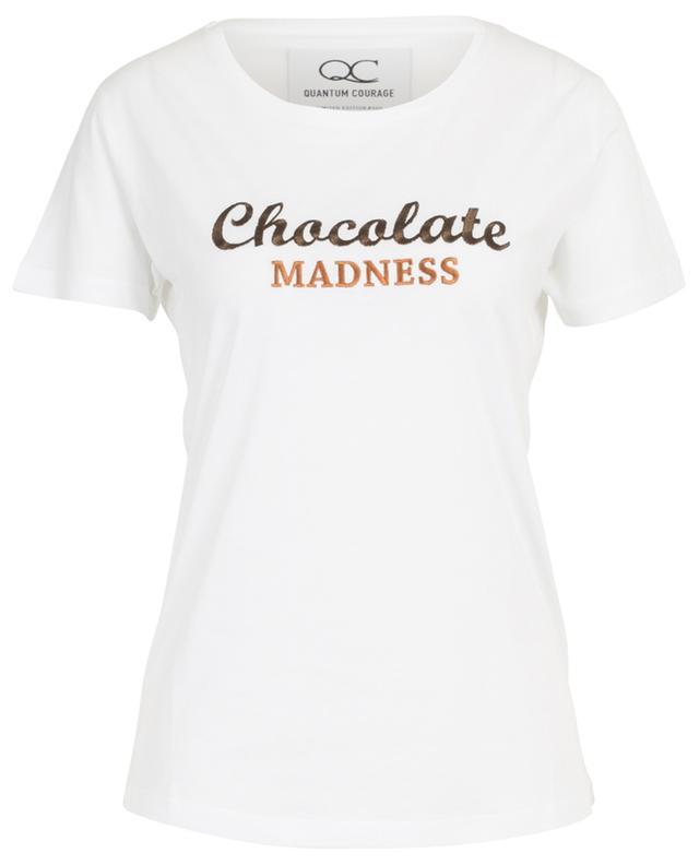 T-shirt en coton et modal brodés Chocolate Madness QUANTUM COURAGE
