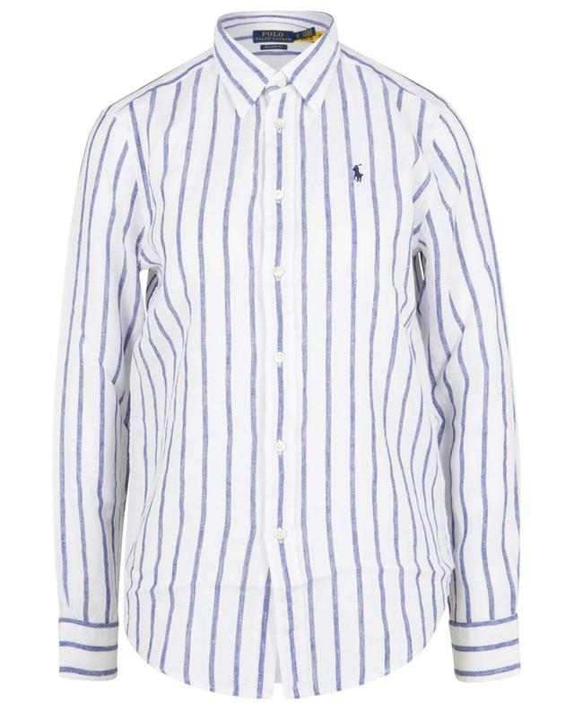 Pony embroidered striped linen shirt POLO RALPH LAUREN