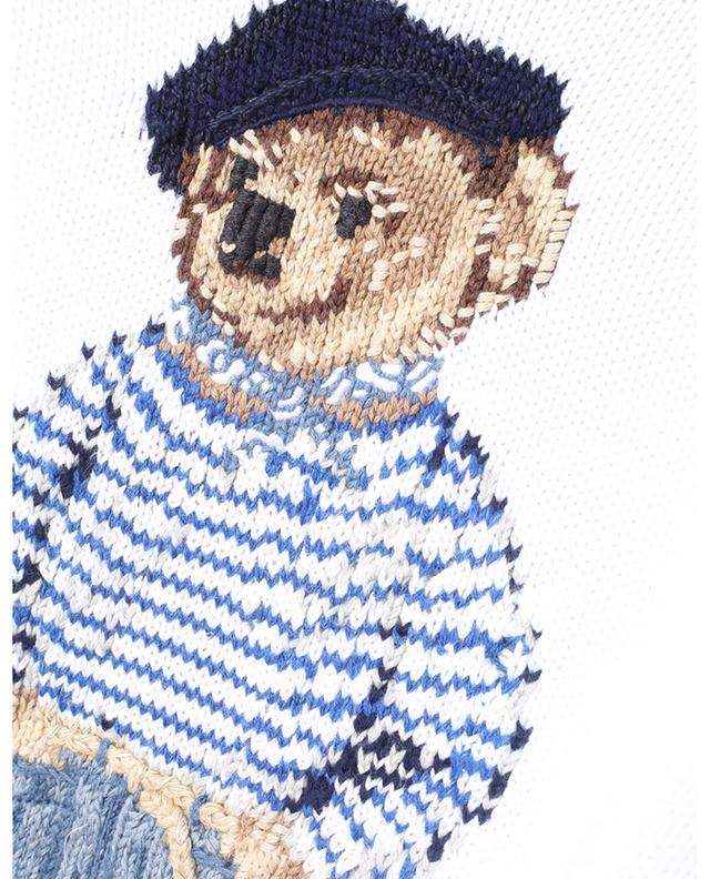 Pull jacquard en coton motif Polo Bear Paris POLO RALPH LAUREN
