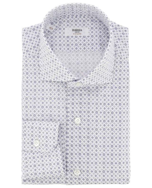 Langärmliges Hemd aus Baumwolle mit Print BARBA