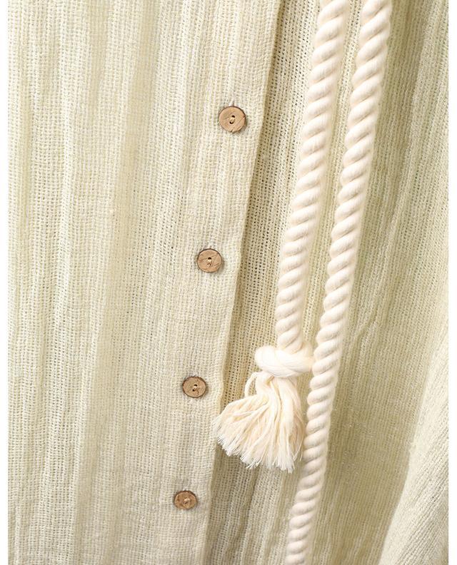 Robe chemise en gaze de lin mélangé Pouf LISA MARIE FERNANDEZ