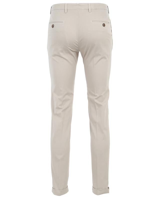 Pantalon fuselé en coton stretch à carreaux B SETTECENTO