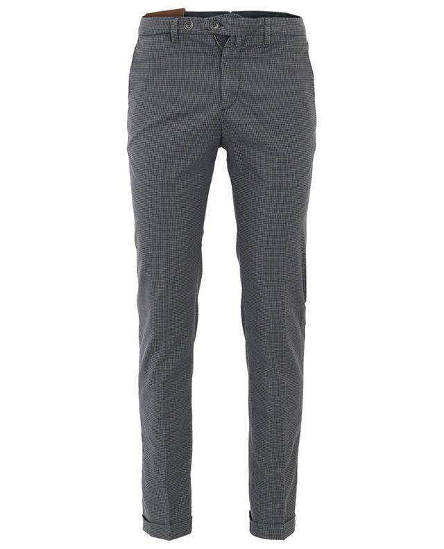 Pantalon à carreaux en coton mélangé B SETTECENTO