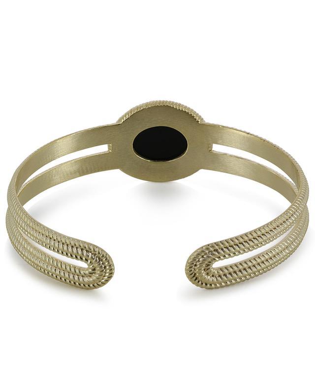 Déméter golden cuff clad with black agate COLLECTION CONSTANCE