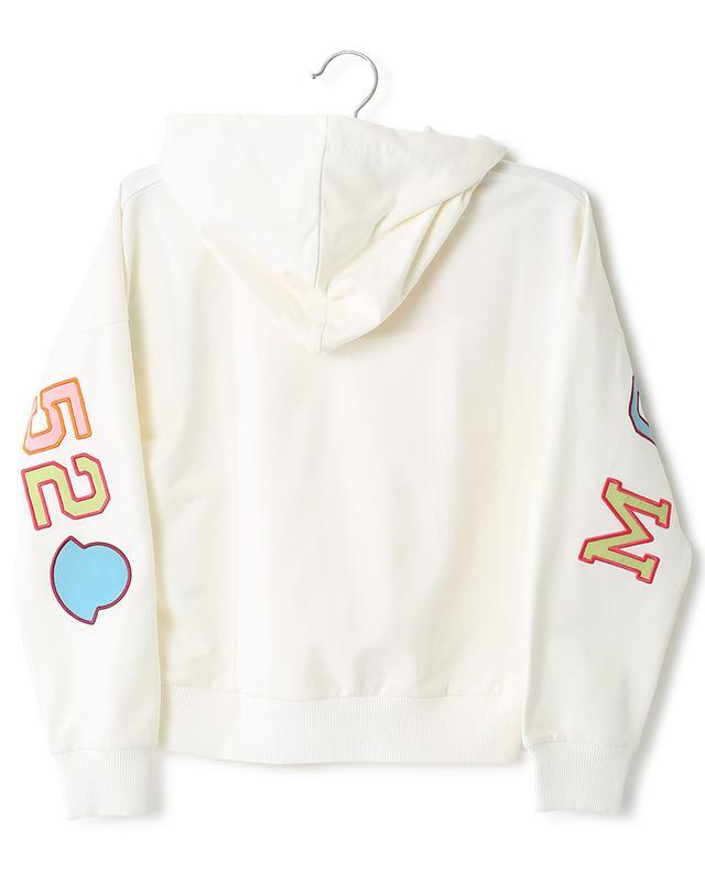 Sweat-shirt à capuche en coton mélangé logo brodé MONCLER