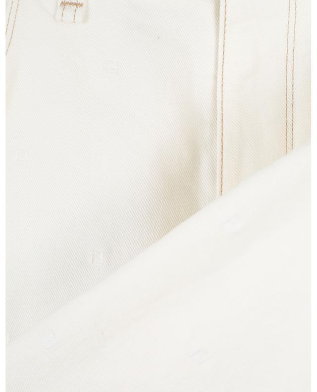 Jean slim en coton stretch monogrammé FENDI