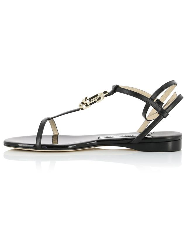 Alodie Flat nappa and patent leather sandals JIMMY CHOO