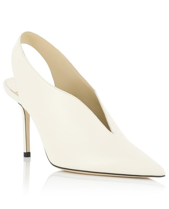 Saise 85 white nappa leather slingback pumps JIMMY CHOO