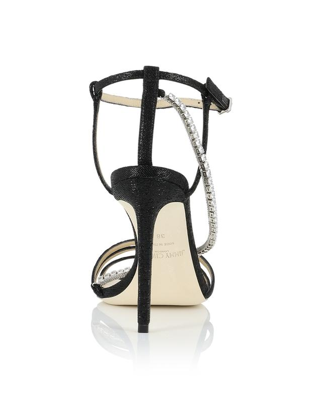 Thaia 100 heeled glitter fabric sandals with crystals JIMMY CHOO