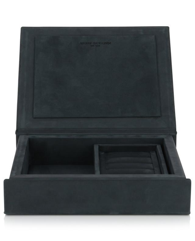 Boîte à bijoux en cuir aniline The Bookbox AUGUST SANDGREN