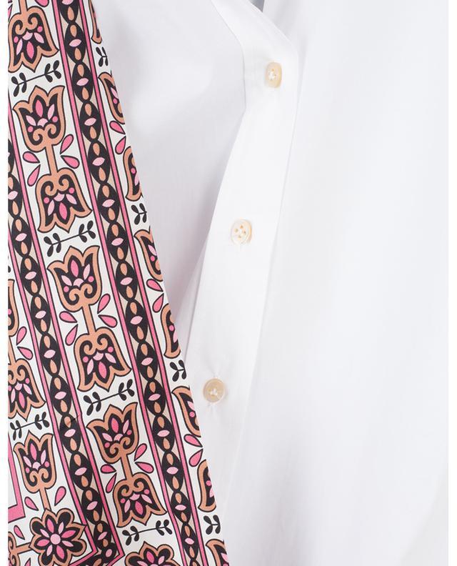 Cotton poplin shirt dress with silk scarf LE SARTE PETTEGOLE