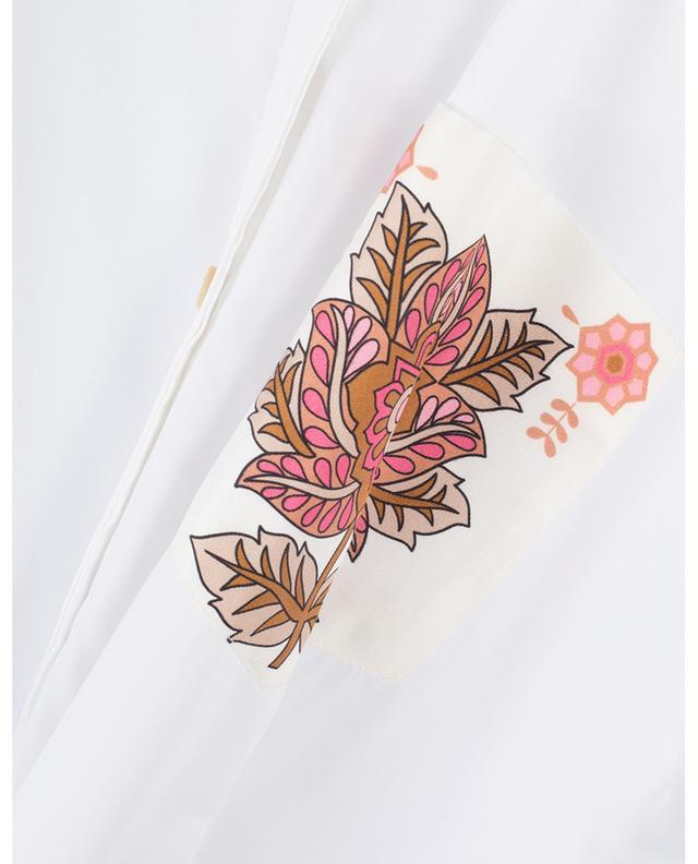 Chemise en coton mélangé détail en soie fleurie LE SARTE PETTEGOLE