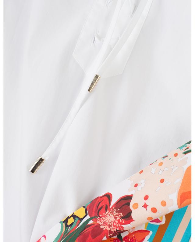 Kurzarm-Hemd aus Popeline mit Streifen und Blüten LE SARTE PETTEGOLE