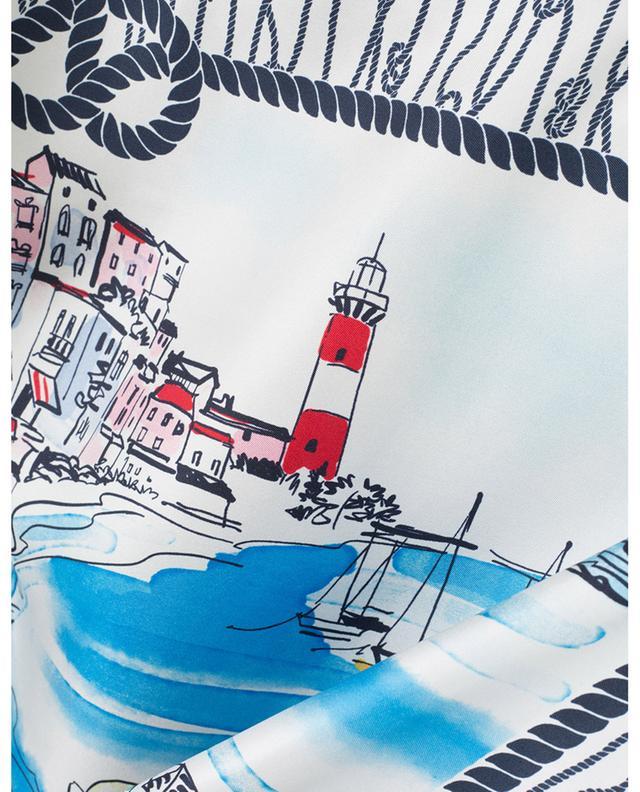 Seidenhemd mit Seemannsknoten-Print LE SARTE PETTEGOLE