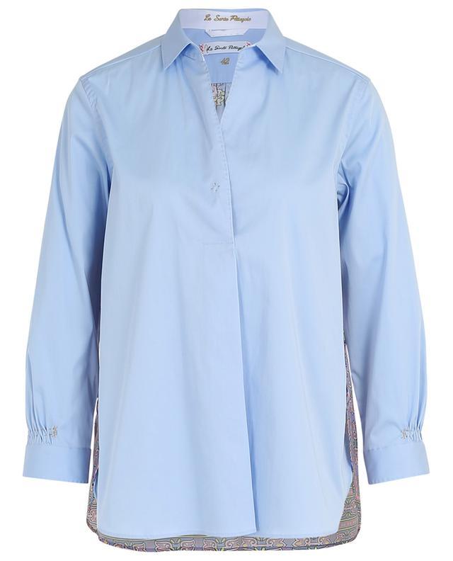 Hemd aus Baumwollmix mit geblümtem Rücken aus Seide LE SARTE PETTEGOLE