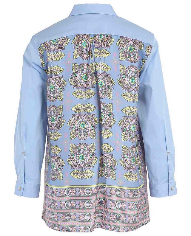 Cotton blend shirt with floral silk back LE SARTE PETTEGOLE