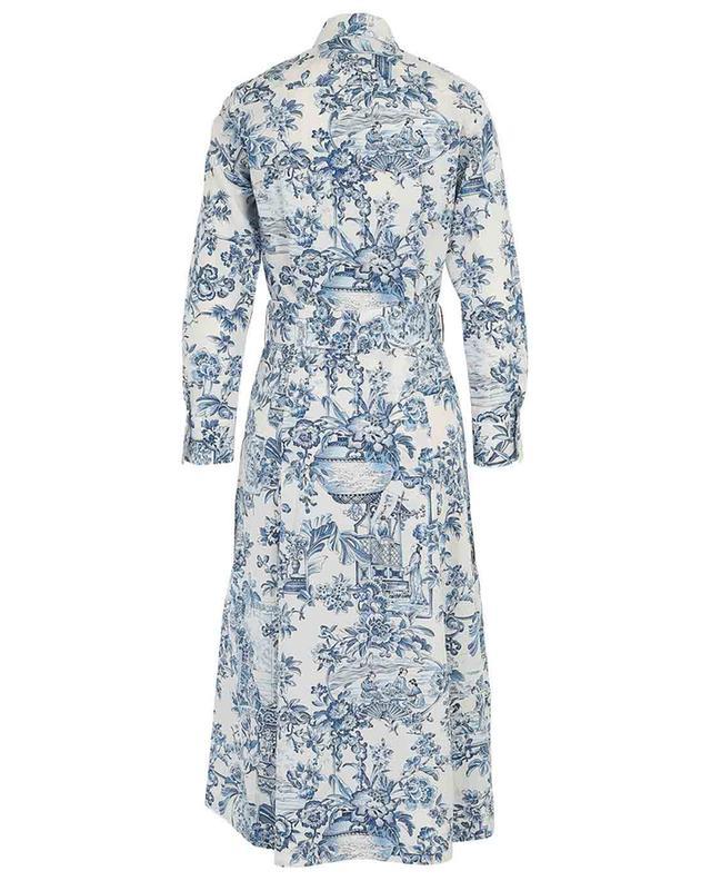 Hemdkleid aus Popeline mit asiatischem Blütenprint LE SARTE PETTEGOLE