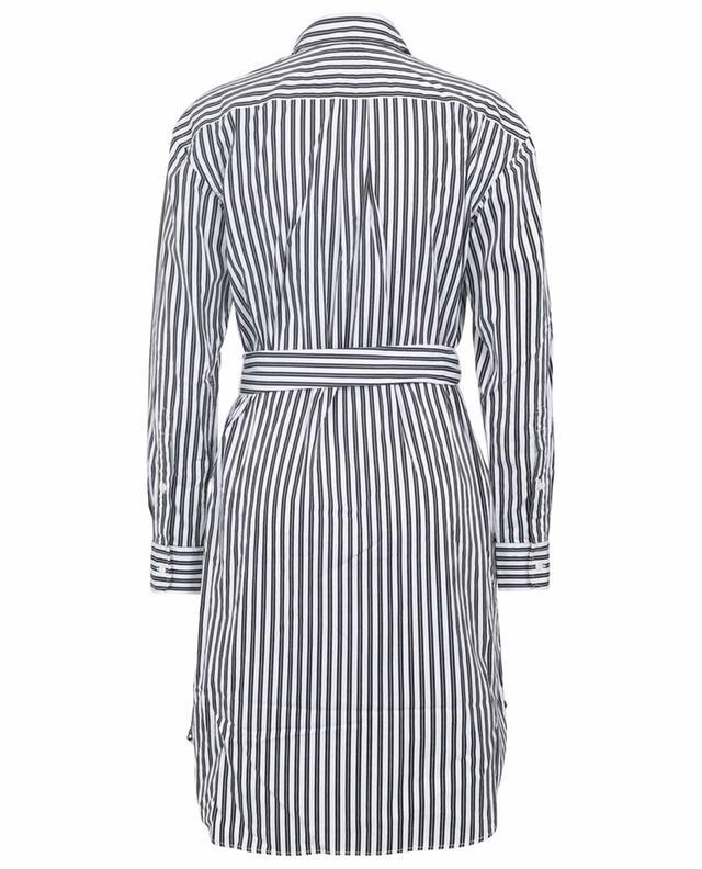 Robe chemise courte en popeline rayée POLO RALPH LAUREN