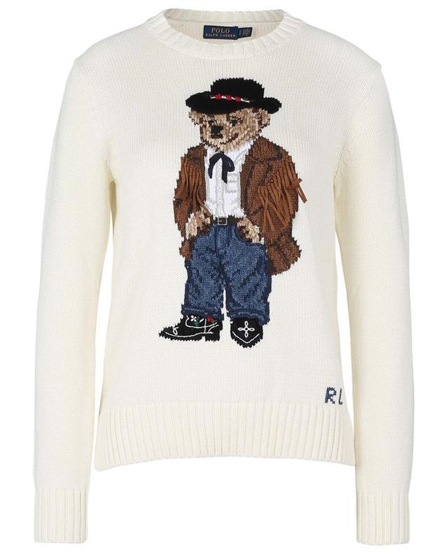Pull en coton jacquard brodé motif Cowboy Polo Bear POLO RALPH LAUREN