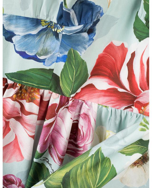 Robe midi sans manches en popeline fleurie Blooming DOLCE & GABBANA