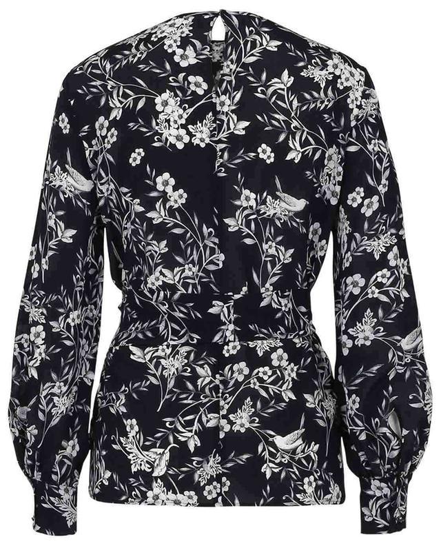 Atri flower and bird printed silk blouse MAX MARA STUDIO
