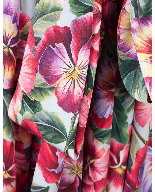 Robe sans manches fleurie en soie mélangée DOLCE & GABBANA