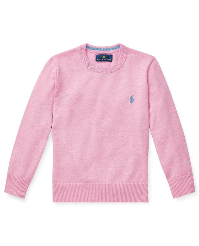 Pony embroidered cotton crew neck jumper POLO RALPH LAUREN